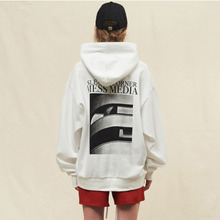 [SLEAZY CORNER] CH01 OVERFIT HOODIE-WHITE