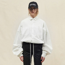 [SLEAZY CORNER] OVERFIT LONG SHIRTS-WHITE