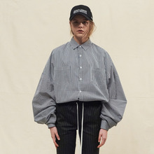[SLEAZY CORNER] OVERFIT LONG SHIRTS-STRIPE