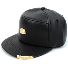 [UNIVERSAL CHEMISTRY] Leather Metal Snapback Cap