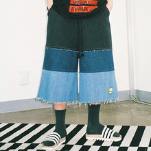 [20% 할인] [AJOBYAJO] Denim Crop Pants (Multi Color)