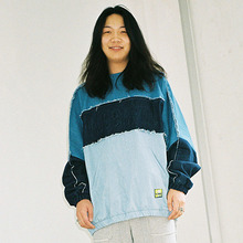 [20% 할인] [AJOBYAJO] Over Denim Sweatshirt (Multi Color)