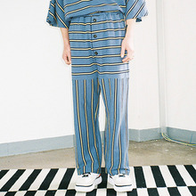 [20% 할인] [AJOBYAJO] Stripe Long Pants (Blue)