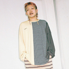 [20% 할인] [AJOBYAJO] Stripe Long Sleeve T-Shirt (Yellow/Navy/Black)