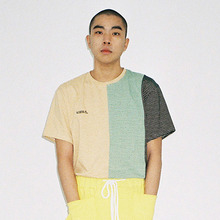 [20% 할인] [AJOBYAJO] Stripe T-Shirt (Yellow/Green/Black)