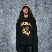 [AROUND80] Skink Long Sleeves - Black