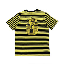 [AROUND80] Pocket Stripe T Shirts - Yellow