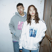 [Double adrenaline syndrome] Harlem front object hoodie