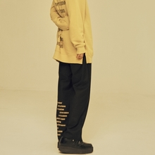 [NEVERCOMMON] BIG LOGO WIDE PANTS (Black&Mustard)