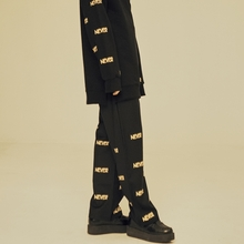 [NEVERCOMMON] FLAME WIDE PANTS (Black&Mustard)