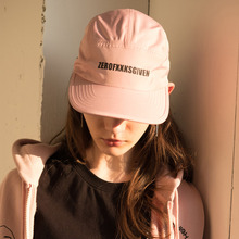[RUNNINGHIGH] Lettering Camp Cap - Pink,Black