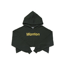 [WANTON] vol.1 crop hoody green