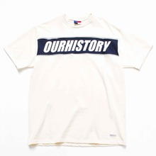 [OURHISTORY]Line Half T-shirt_Ivory