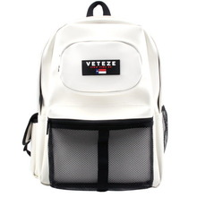 [60%sale][VETEZE] Retro Leather Sport Backpack - WH