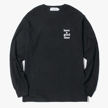 [Have a good time] Logo L/S Tee - Black