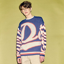 [HEICH BLADE] DATE GRAPHIC KNIT - NAVY