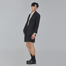 [SALON DE SEOUL] Man Line Half Pants - Black
