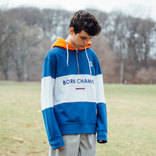 [Bornchamps] BC 3 COLOR HOODY - BLUE