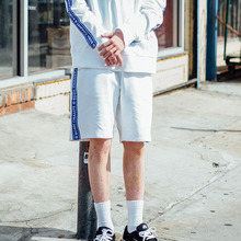 [Bornchamps] BC TAPE SHORTS - WHITE