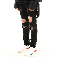 [15%할인][LANG VERSIO]Destroyed Black Zipper Jean Ver.2