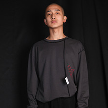 [MUTEMENT] Inside-out T-shirt - Charcoal