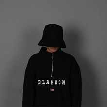 [BLAKOON] Over size bucket hat - Black