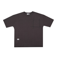 [HOUNDVILLE]OVERFIT PIGMENT t-shirt chacoal