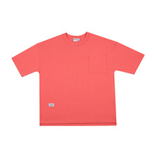 [HOUNDVILLE]OVERFIT PIGMENT t-shirt pink