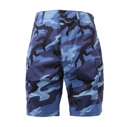 [Rothco] Colored Camo BDU Shorts - Sky Blue Camo