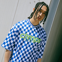 [Bornchamps] BC-R CHECK TEE - BLUE