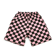 [A PIECE OF CAKE] GG Trailer Checkerboard 1/2 Pants_Pink