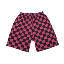[A PIECE OF CAKE] GG Trailer Checkerboard 1/2 Pants_Purple