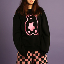 [A PIECE OF CAKE] Grapegummy Crewneck_Black