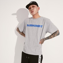 [BASEMOMENT] BOLT LOGO T-SHIRT - GREY