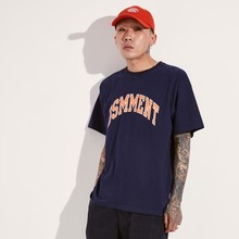 [BASEMOMENT] ARCH LOGO T-SHIRT - NAVY