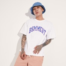 [BASEMOMENT] ARCH LOGO T-SHIRT - WHITE