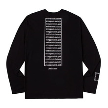 [ATAR]BACK LETTERING SLEEVE-T BLACK