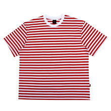 [10%할인][EINEN]Peerless Fake Stripe 1/2 T-Shirts White&Red