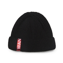 [WANTON] vol.2 red tap short beanie black