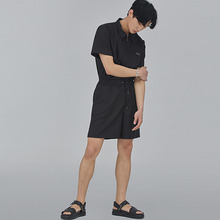 [SALON DE SEOUL] Man Eyelet Half Pants - Black