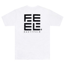 [Nasty Palm x Feel Enuff] F x N Logo T-Shirts - White