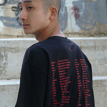[MUTEMENT][30%할인]SLANG 1/2 T-SHIRTS(BLACK)