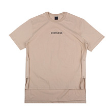 [10%할인][EINEN]Peerless Doubleside Zipper 1/2 T-Shirts Beige