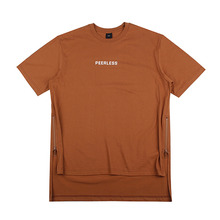 [10%할인][EINEN]Peerless Doubleside Zipper 1/2 T-Shirts Brown