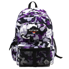 [49%SALE][VETEZE] Retro Camo Backpack - SUPER VIOLET