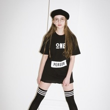 [JUSTO]ONEPERSON TSHIRTS-BLACK