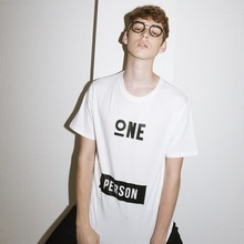 [JUSTO]ONEPERSON TSHIRTS-WHITE