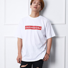 [10%할인][OHVERDOSE]New Box Logo Short Sleeve White