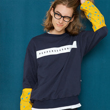 [50%할인][페퍼시즈닝] BAND PRINT SWEAT SHIRT_navy