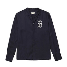 [BC by beyondcloset] [COLETTE EDITION] CLASSIC LOGO OPEN COLLAR SHIRTS NAVY